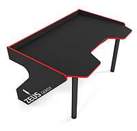 Геймерский игровой стол ZEUS GEROY черно-красный