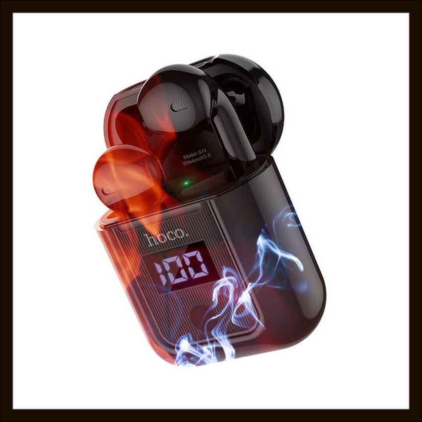 Беспроводные наушники TWS Hoco с зарядным кейсом и LED дисплеем Bluetooth 5.0 400 мАч 3,5 часов (S11(B))