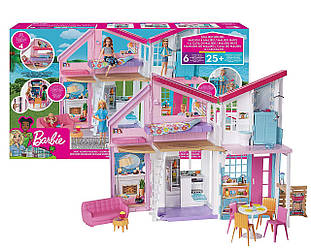 Barbie Будиночок Барбі Малібу  (Домик в Малибу Барби Набор Mattel Barbie Malibu House FXG57 ДОМ 6 комнат)
