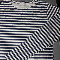 Тельняшка с длинным рукавом в синюю полоску (размеры под заказ)