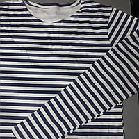 Тельняшка с длинным рукавом в синюю полоску (размеры 50. 52. 54. 56)