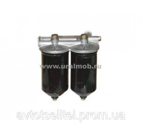 7401117010 Фильтр топливный СБ (ФТОТ) КамАЗ, ЗИЛ-133 тонкой очистки топлива в сборе сиськи,