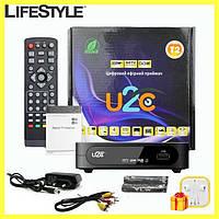 TV тюнер U2C приемник приставка для цифрового ТВ + ПОДАРОК! Наушники Apple