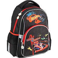 Рюкзак (ранец) школьный для мальчиков Kite Hot Wheels HW18-513S черный, фото 1