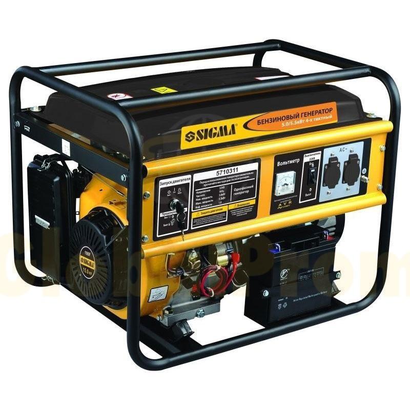 Генератор бензиновый 5.0/5.5КВТ 4-х тактный электрозапуск Pro-S Sigma (5710311)