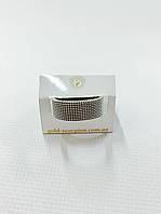 Стильное необычное кольцо меняющее форму с родиевым покрытием 20/17размер