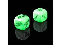 Кубики світяться камасутра. Кістки світяться камасутра. Кубики для еротичних ігор. Кубики для дорослих, фото 2