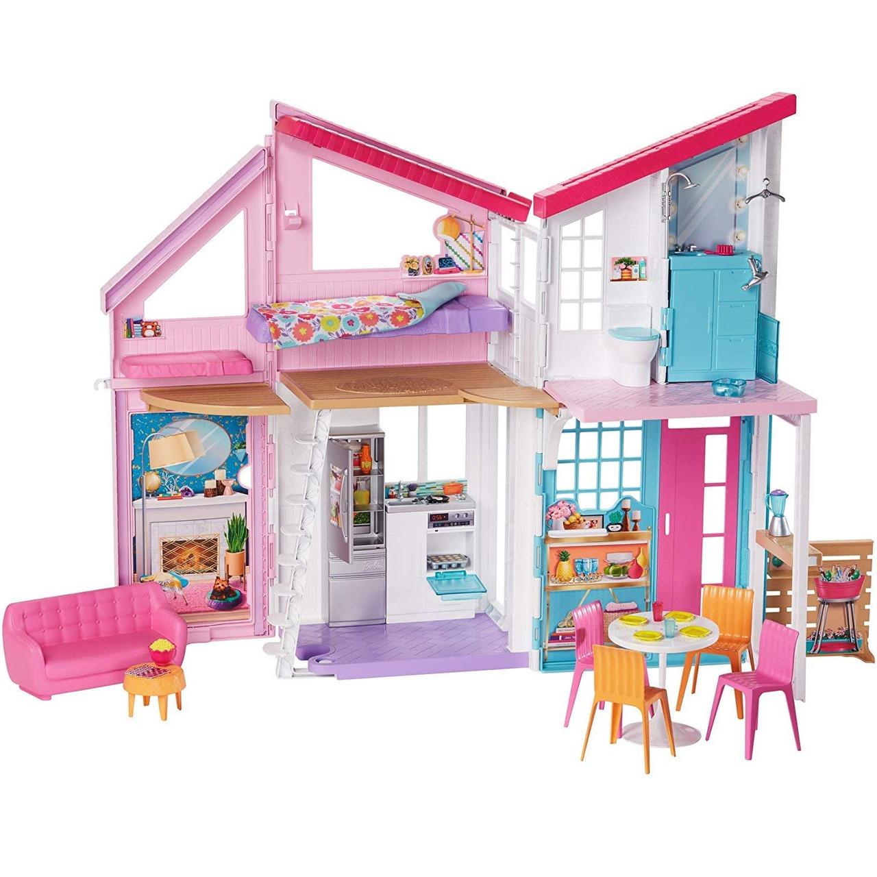 Barbie Домик в Малибу Барби Набор Mattel Barbie Malibu House FXG57 6 комнат, 25 акс.