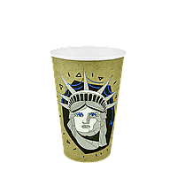 "Одноразовый стакан, серия ""Статуя Свободы"", 340мл. 50шт/уп (1ящ/25уп/1250шт) под крышку КВ79/""РОМБ"" 79"