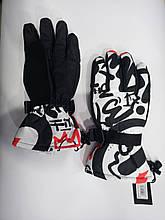 Рукавички чорні з білим freever