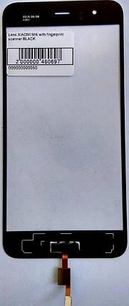 Стекло модуля со сканером отпечатка пальца для Xiaomi Mi6 черный, фото 2