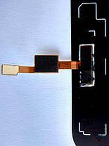 Скло модуля зі сканером відбитка пальця для Xiaomi Mi6 чорний, фото 3