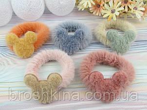 Резинки для волос меховые Ø6.5 см Микки 10 шт/уп.