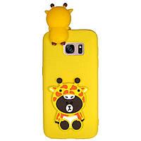 Чехол Cartoon 3D Case для Samsung G930 Galaxy S7 Жирафы