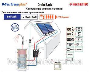 Самосливная солнечная система Drain Back - SolPack 12 (без бойлера)