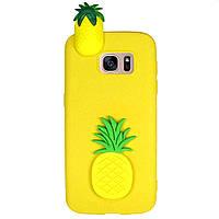 Чехол Cartoon 3D Case для Samsung G930 Galaxy S7 Ананасы