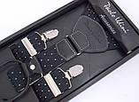 Мужские подтяжки Paolo Udini черные с узором, фото 3