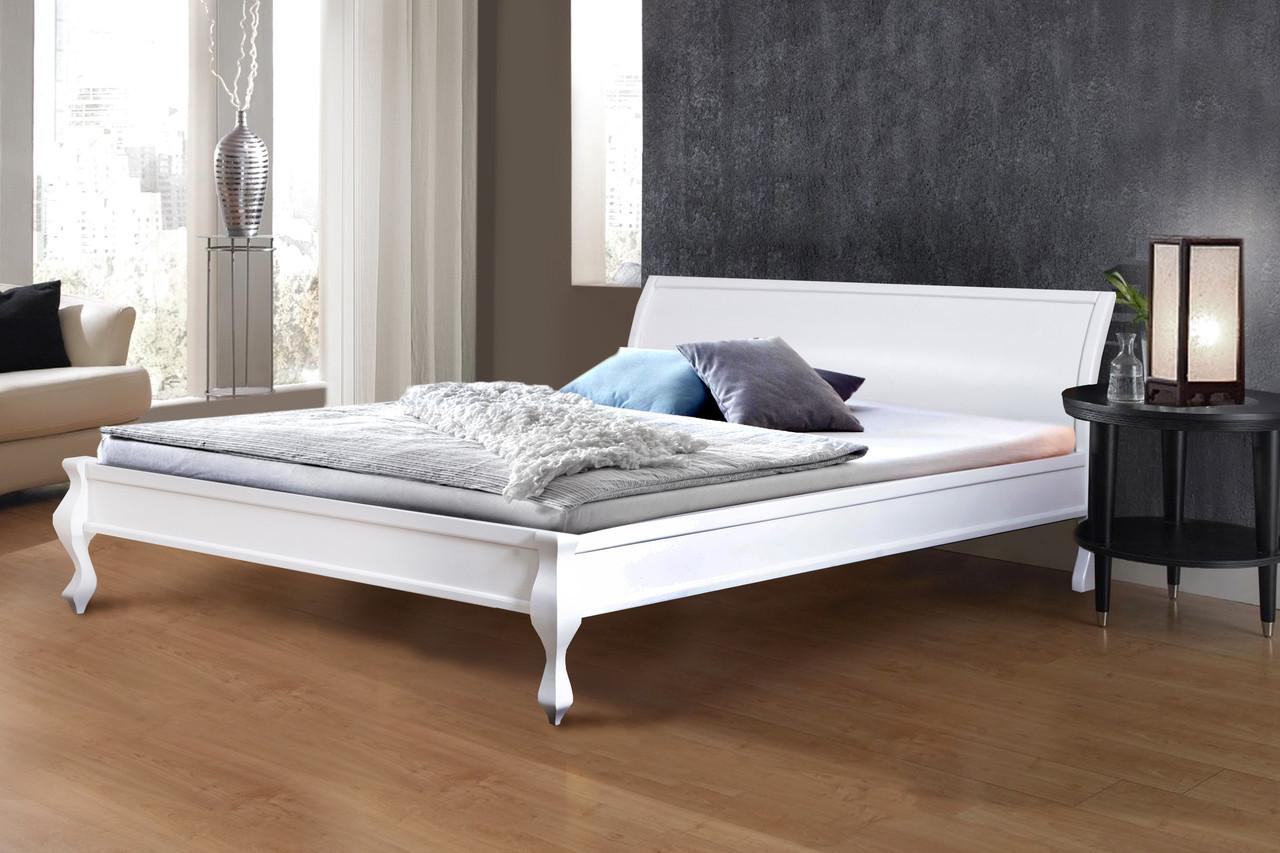 Кровать деревянная двуспальная Николь 1,6м белая.