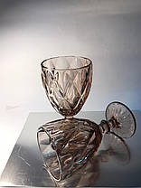 Набор из 6 бокалов из розового цветного стекла Изольда по 300 мл, фото 2