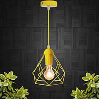 """Подвесной металлический светильник, современный стиль, loft, vintage, modern style """"RUBY-E"""" Е27  желтый цвет"""