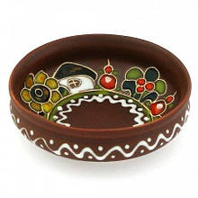 Соусник круглый глиняный