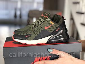 Кроссовки женские спортивные Nike Air Max 270 Найк Аир Макс 270 цвет хаки текстиль