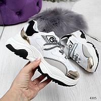 Стильные женские светлые кроссовки Stef, фото 1