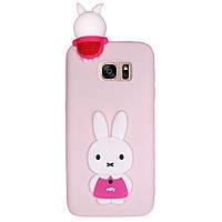 Чехол Cartoon 3D Case для Samsung G935 Galaxy S7 Edge Кролик