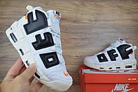 Мужские кроссовки Nike Air More Uptempo x OFF White (Люкс реплика)