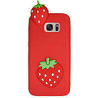Чехол Cartoon 3D Case для Samsung G935 Galaxy S7 Edge Клубничка