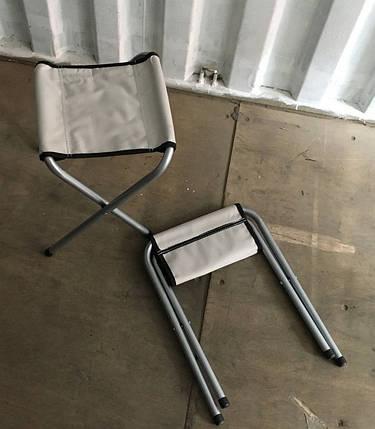 Стул раскладной с палаточной ткани прочный кемпинговый компактный стульчик, фото 2