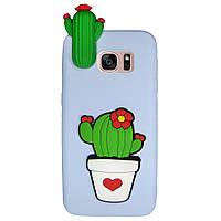 Чехол Cartoon 3D Case для Samsung G935 Galaxy S7 Edge Кактусы