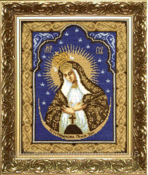"""Набор для вышивки крестиком Чарівна Мить 399 """"Икона Образ Пресвятой Богородицы Остробрамская"""""""