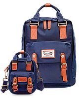 Рюкзак Doughnut синий + сумочка Doughnut в подарок Код 11-0056