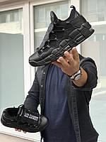 Кросівки чоловічі в стилі   Nike Air More Money  чорні   ( із змінними язичками)   ТОП якість