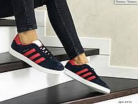 Кросівки жіночі  в стилі  Adidas Gazelle  темно сині з червоним  (ТОП ЯКІСТЬ)
