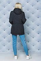 Куртка женская весна-осень черная, фото 2