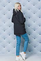 Куртка женская весна-осень черная, фото 3