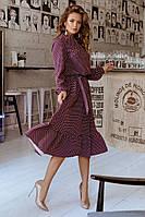 Женское элегантное платье в горошек т.м. Амбре AM1729