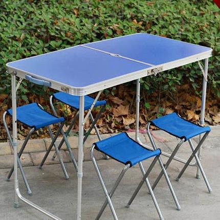 Кемпінговий набір стіл і 4 стільця Folding Table 333 для пікніка, фото 2