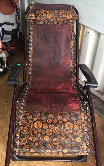 Шезлонг раскладное кресло-лежак 180х110х63 садовое кресло для отдыха кемпинговое