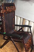 Шезлонг раскладное кресло-лежак 180х110х63 садовое кресло для отдыха кемпинговое, фото 3