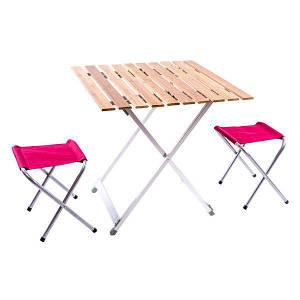 Стол кемпинговый складной + 2стула набор