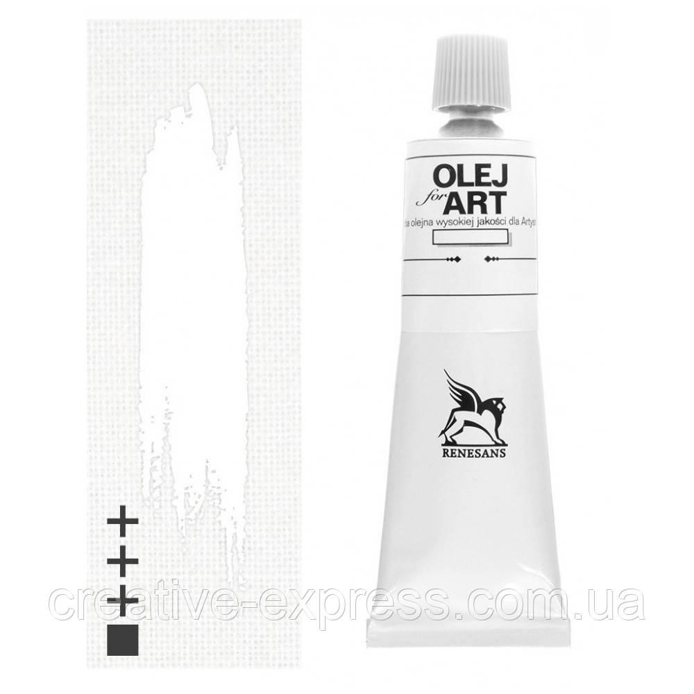 Фарба олійна, Білило двойного покриття, 140мл, Renesans