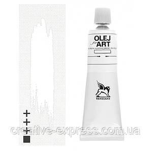 Фарба олійна, Білило двойного покриття, 140мл, Renesans, фото 2