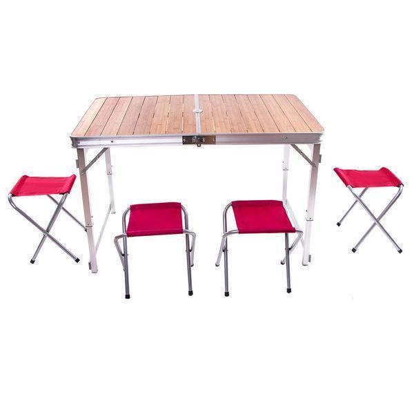 Стол бамбуковый складной 120*70*70 см раскладной стол