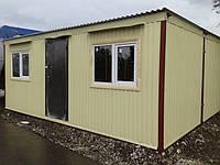 Бу Бытовка строительная 6 метров, 2 окна, крепкий и теплый вагончик, битовка. ДОСТАВКА