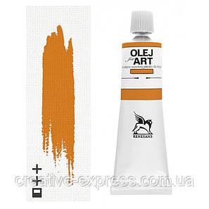Фарба олійна, Гірчична, 60мл, Renesans, фото 2