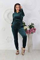 Стильный женский велюровый спортивный и домашний костюм, норма и большие размеры батал