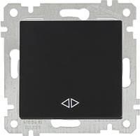 """MUTLUSAN """"Rita"""" Механизм выключателя 1-й перекрестный 10А черный (2200 408 0184)"""